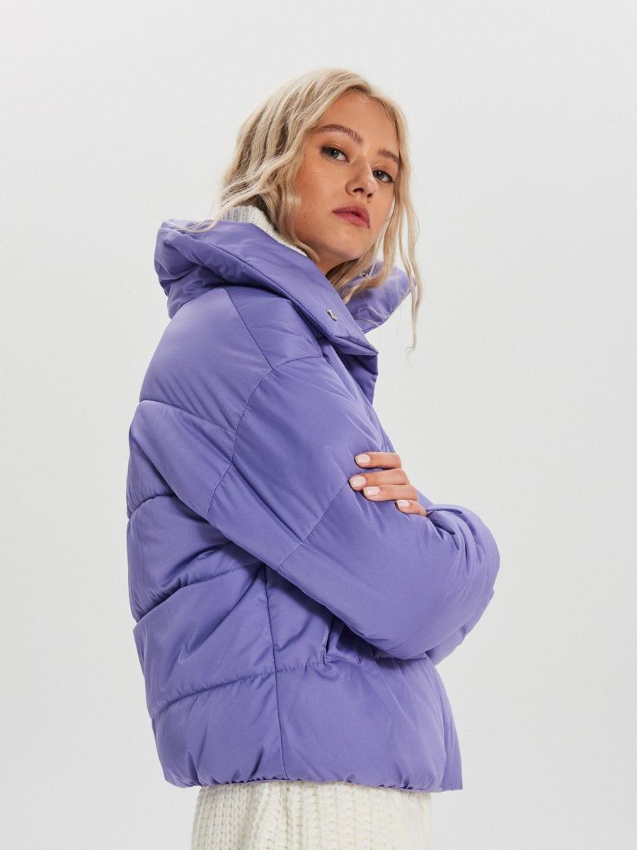 Объемная куртка - фиолетовый - WB866-44X - Cropp - 4