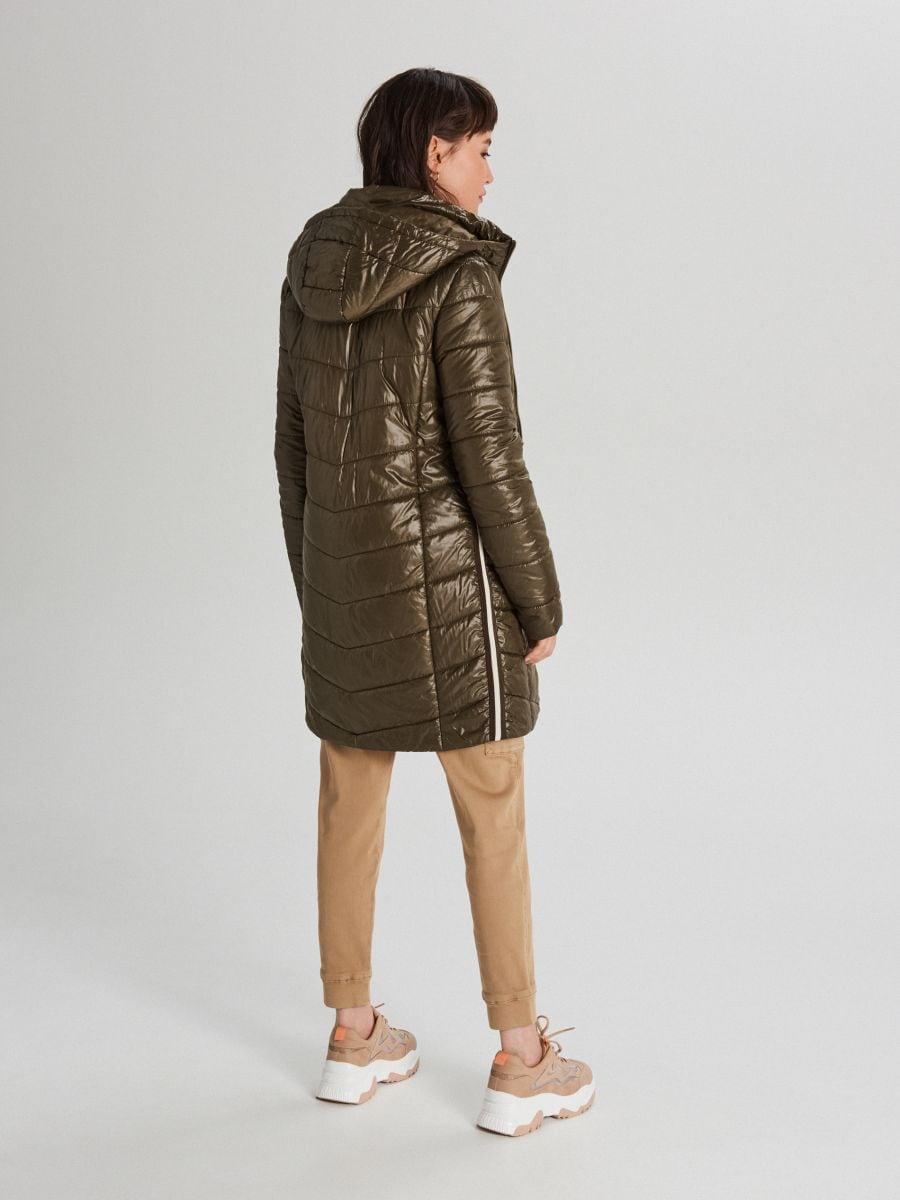 Стеганая куртка с капюшоном - хаки - WB875-78X - Cropp - 5