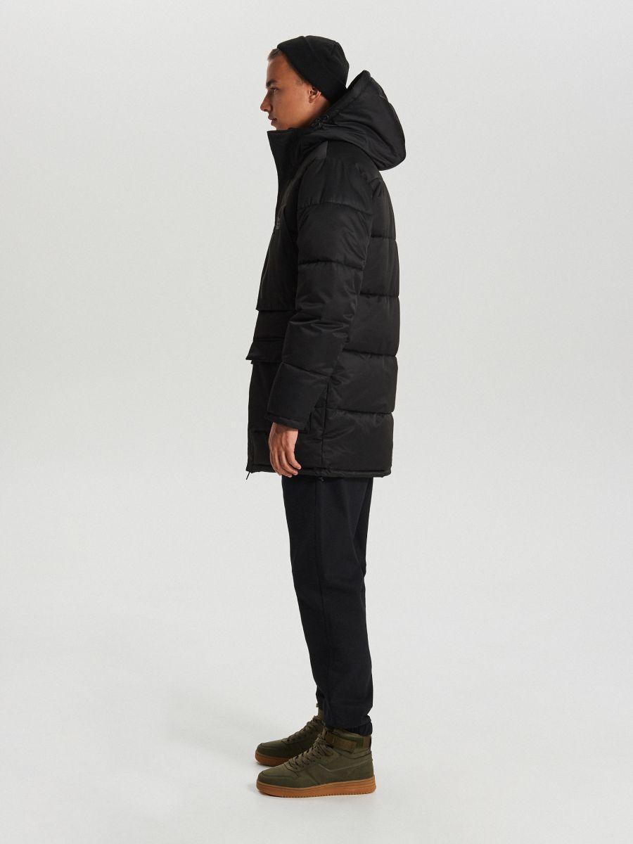 Спортивная куртка с капюшоном - черный - WC151-99X - Cropp - 5