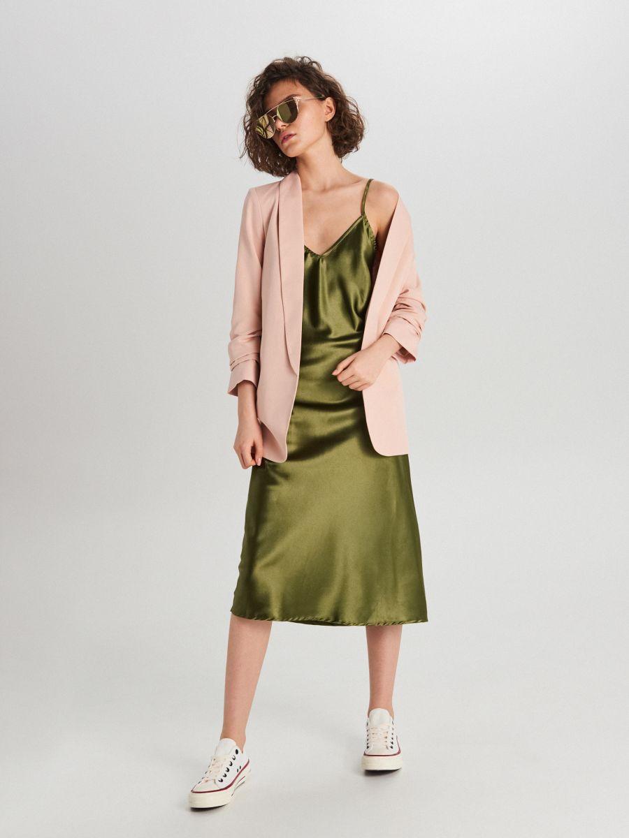Удлиненный пиджак - розовый - WG319-03X - Cropp - 2