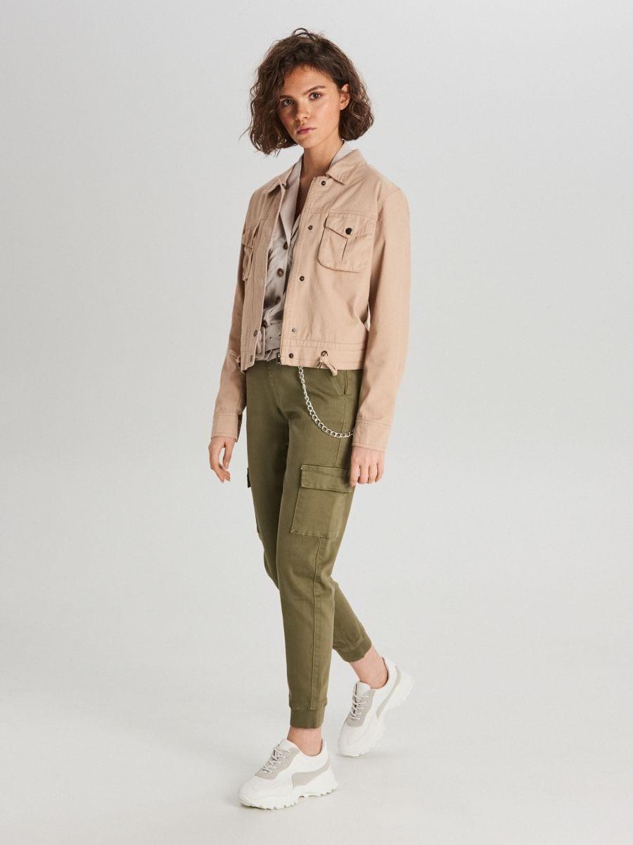 Куртка с карманами - бежевый - WG327-08X - Cropp - 1
