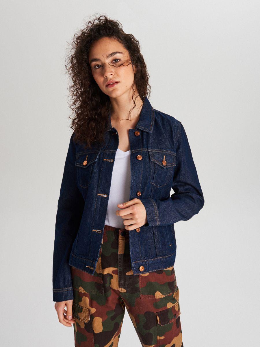 Джинсовая куртка - темно-синий - WG343-59J - Cropp - 1
