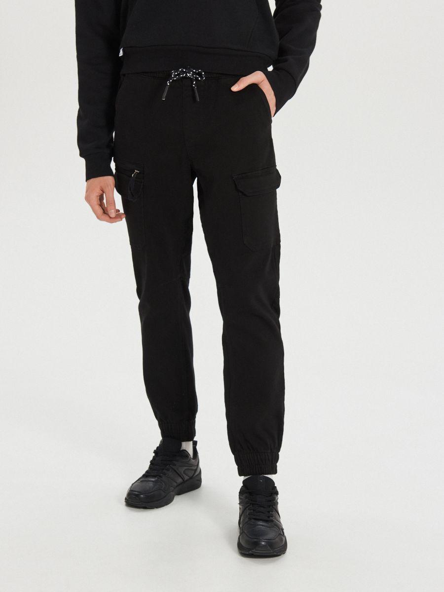 Джоггеры slim fit - черный - WH134-99X - Cropp - 2