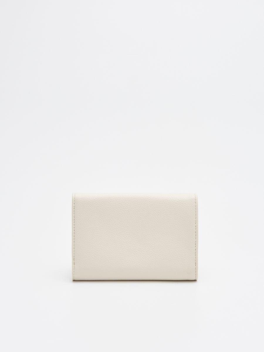 Кошелек с декоративной застежкой - кремовый - WR020-01X - Cropp - 3