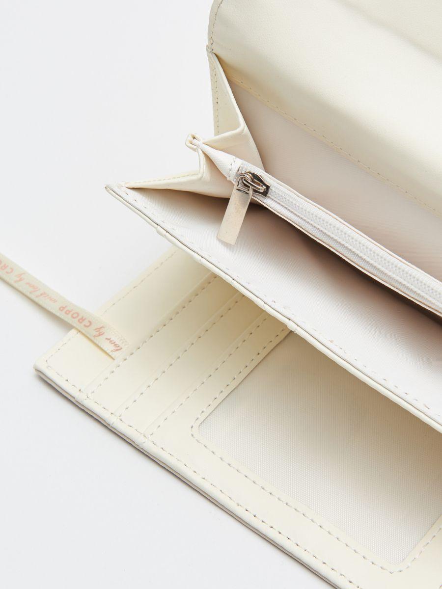 Кошелек с декоративной застежкой - кремовый - WR020-01X - Cropp - 4