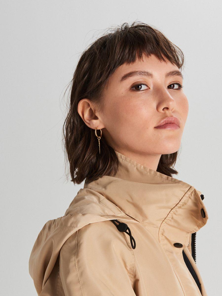 Куртка с капюшоном - бежевый - WS150-08X - Cropp - 2