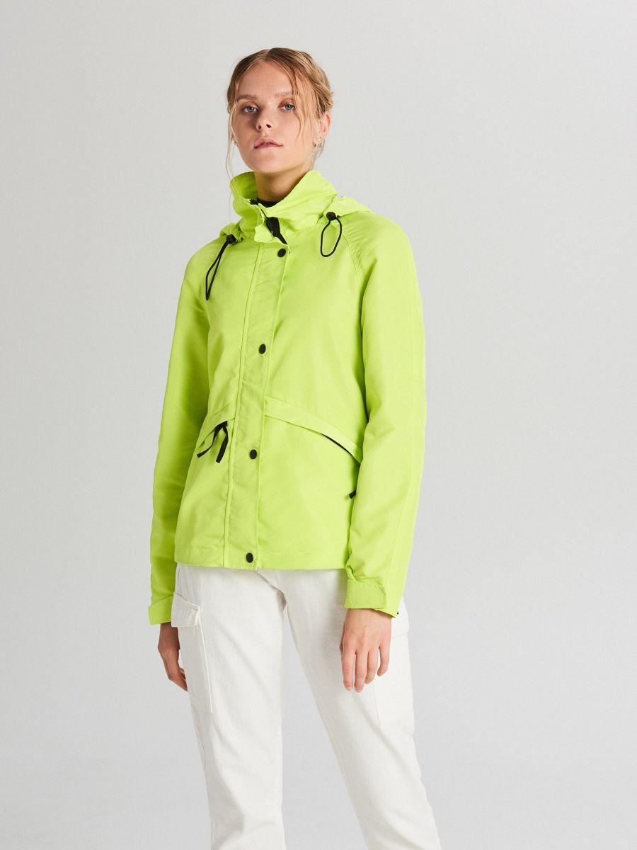 Куртка с капюшоном - зеленый - WS150-71X - Cropp - 1
