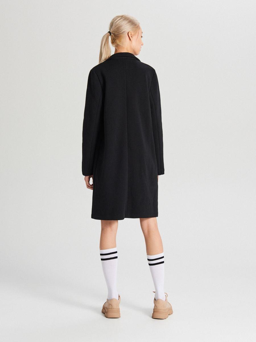 Пальто прямого кроя - черный - WS171-99X - Cropp - 3