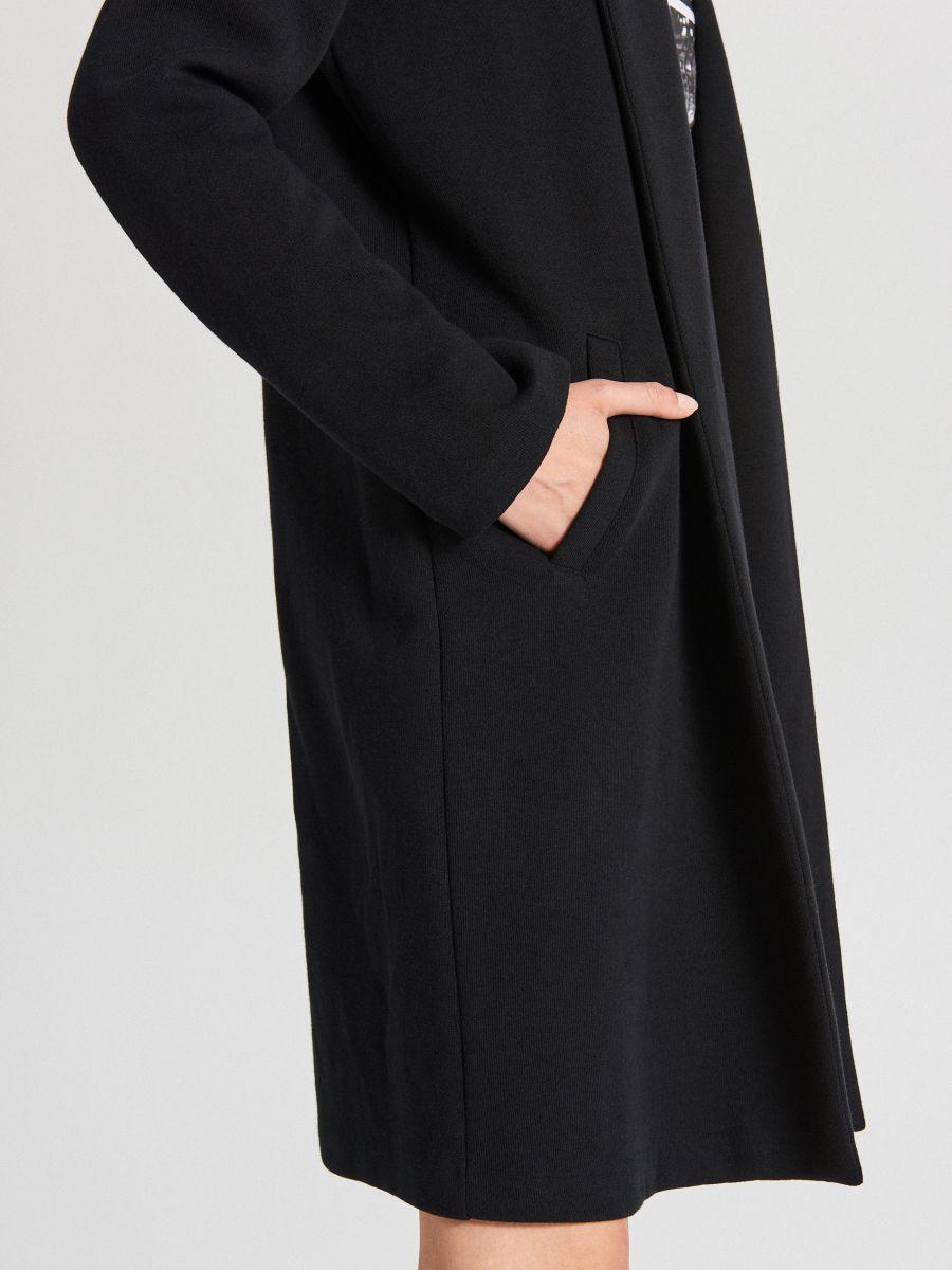 Пальто прямого кроя - черный - WS171-99X - Cropp - 5