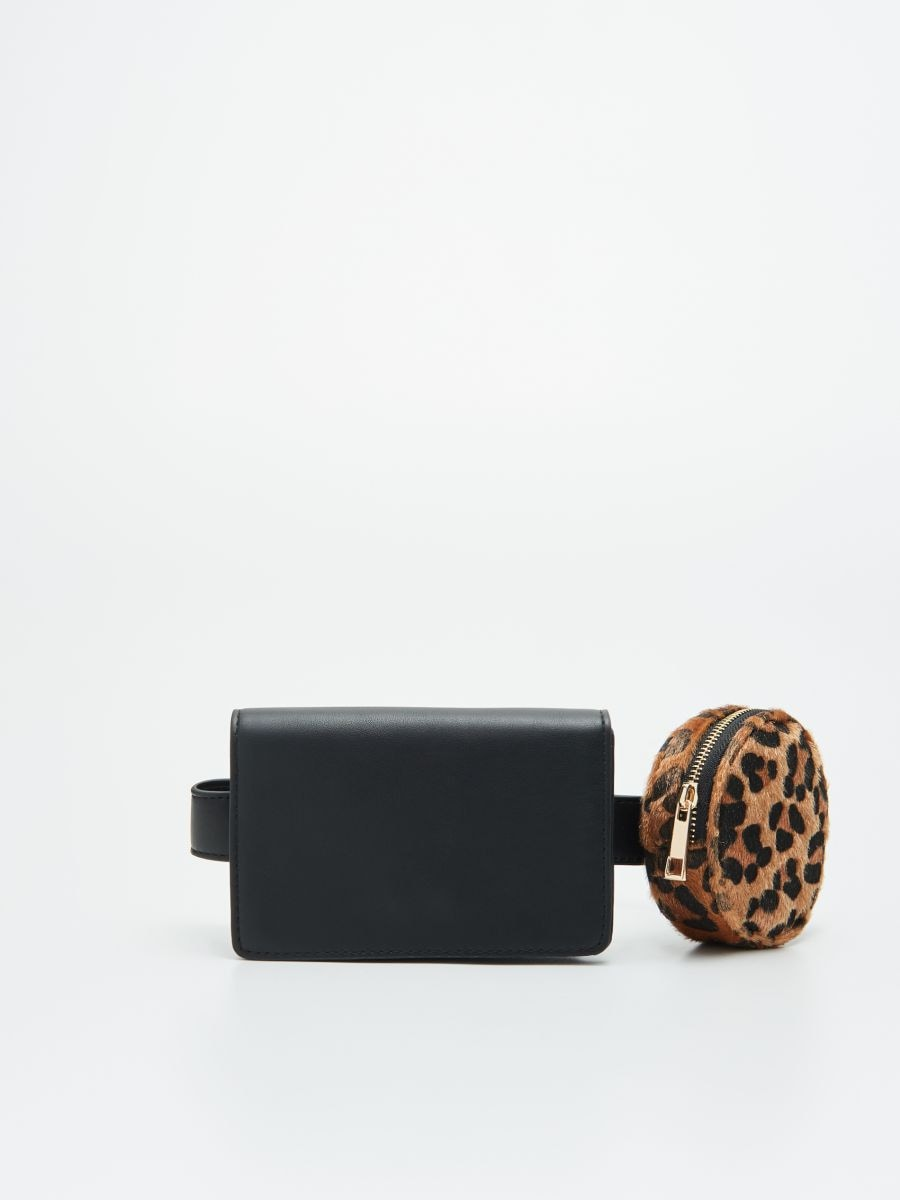 Сумка на ремне с саше - черный - WT362-99X - Cropp - 1