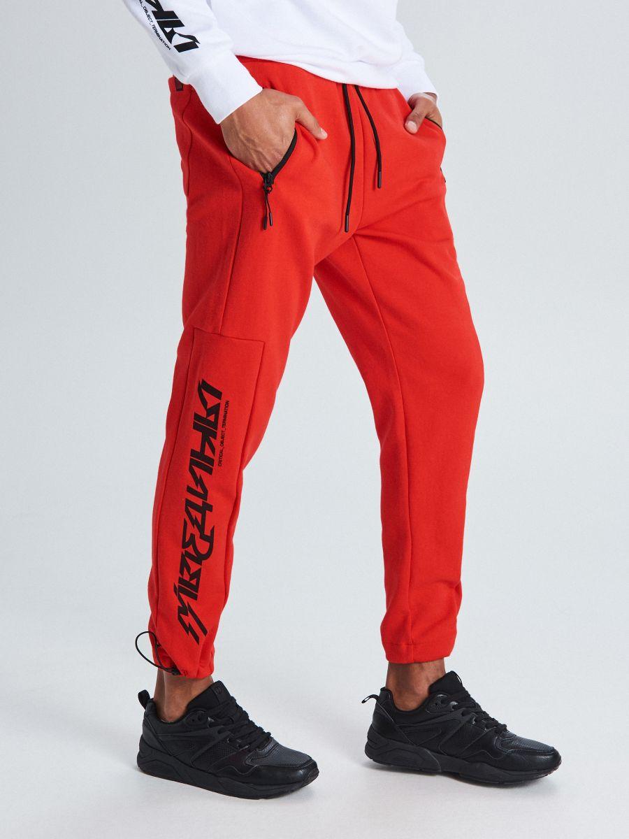 Утепленные джинсовые брюки - красный - WW364-33X - Cropp - 2