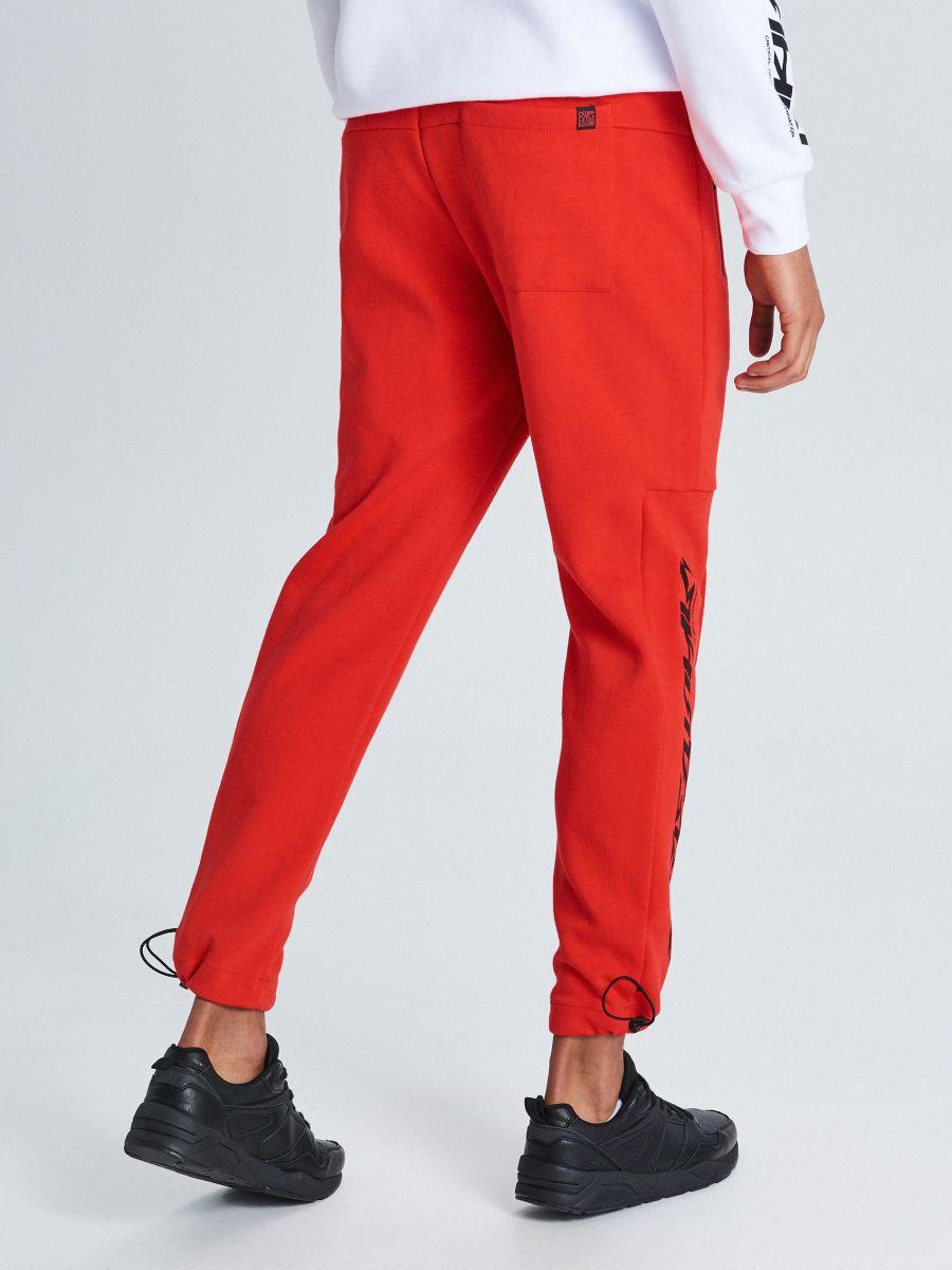 Утепленные джинсовые брюки - красный - WW364-33X - Cropp - 4