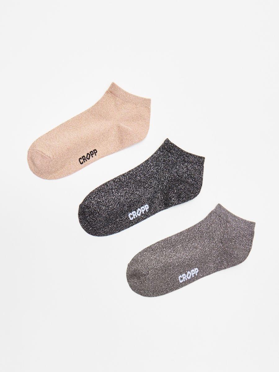Тройная упаковка носков - черный - WX961-99X - Cropp - 1