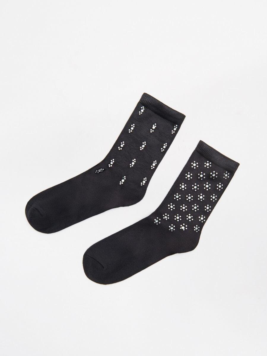 Носки, 2 пары в упаковке - черный - WX964-99X - Cropp - 1