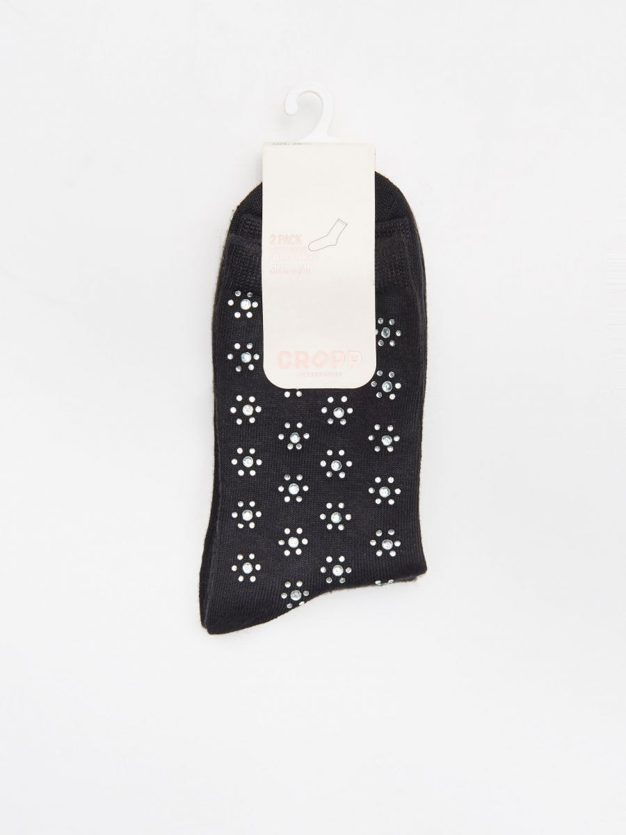 Носки, 2 пары в упаковке - черный - WX964-99X - Cropp - 2