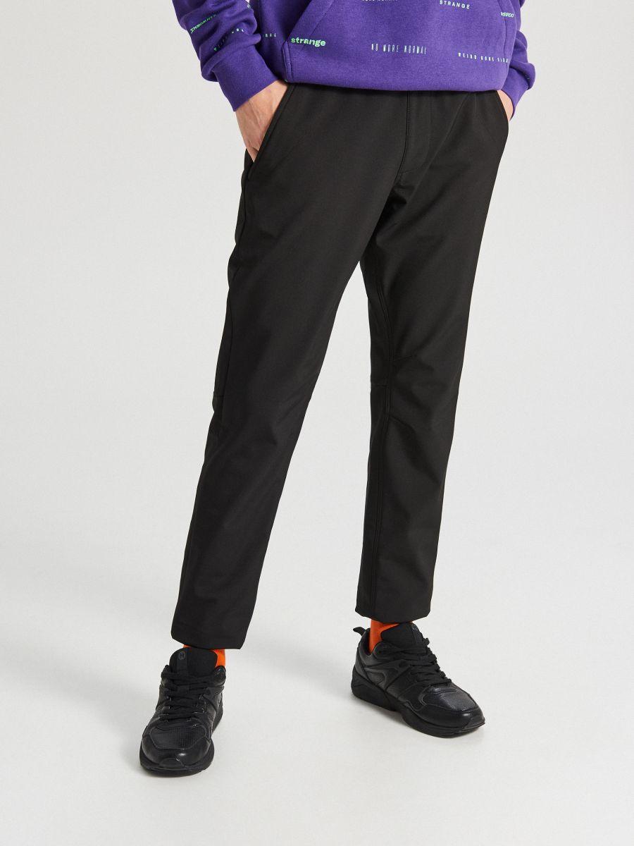 Утепленные брюки-джоггеры - черный - XA559-99X - Cropp - 2