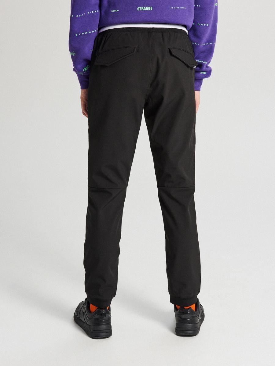 Утепленные брюки-джоггеры - черный - XA559-99X - Cropp - 4