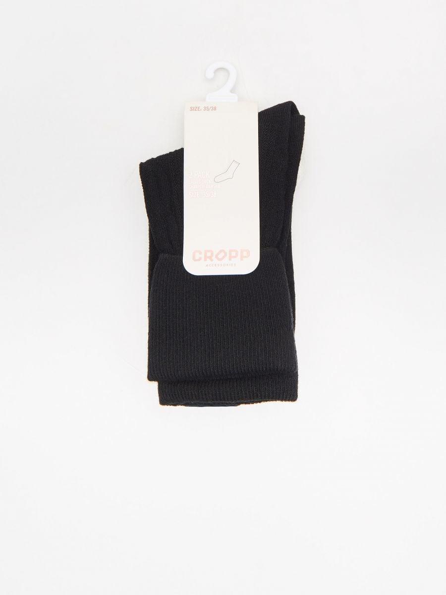 Носки, 2 пары в упаковке - черный - XD179-99X - Cropp - 2