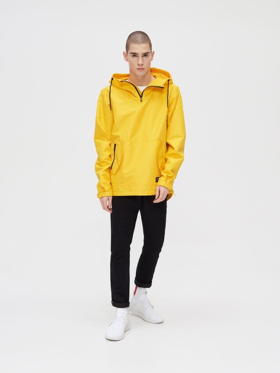 Легкая куртка-анорак с капюшоном - желтый - XJ981-11X - Cropp - 3