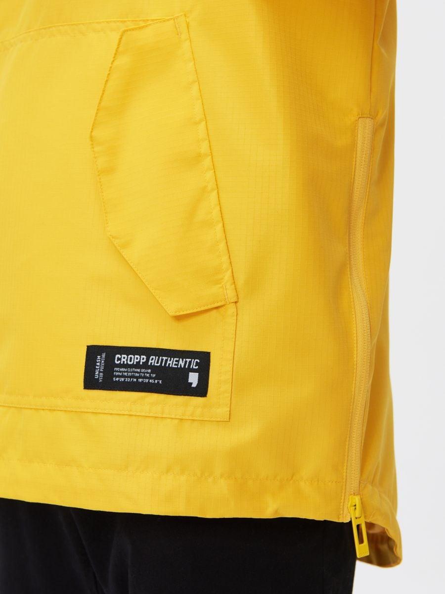 Легкая куртка-анорак с капюшоном - желтый - XJ981-11X - Cropp - 4