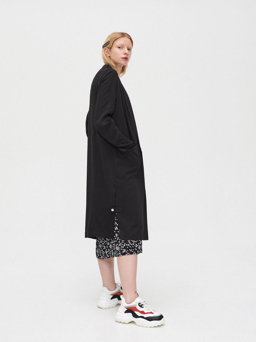 Длинное пальто - черный - XL556-99X - Cropp - 1