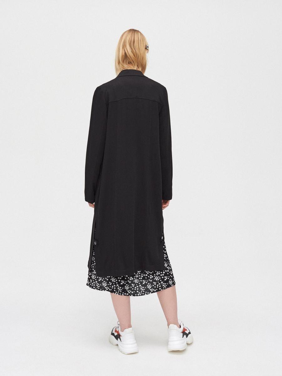 Длинное пальто - черный - XL556-99X - Cropp - 5