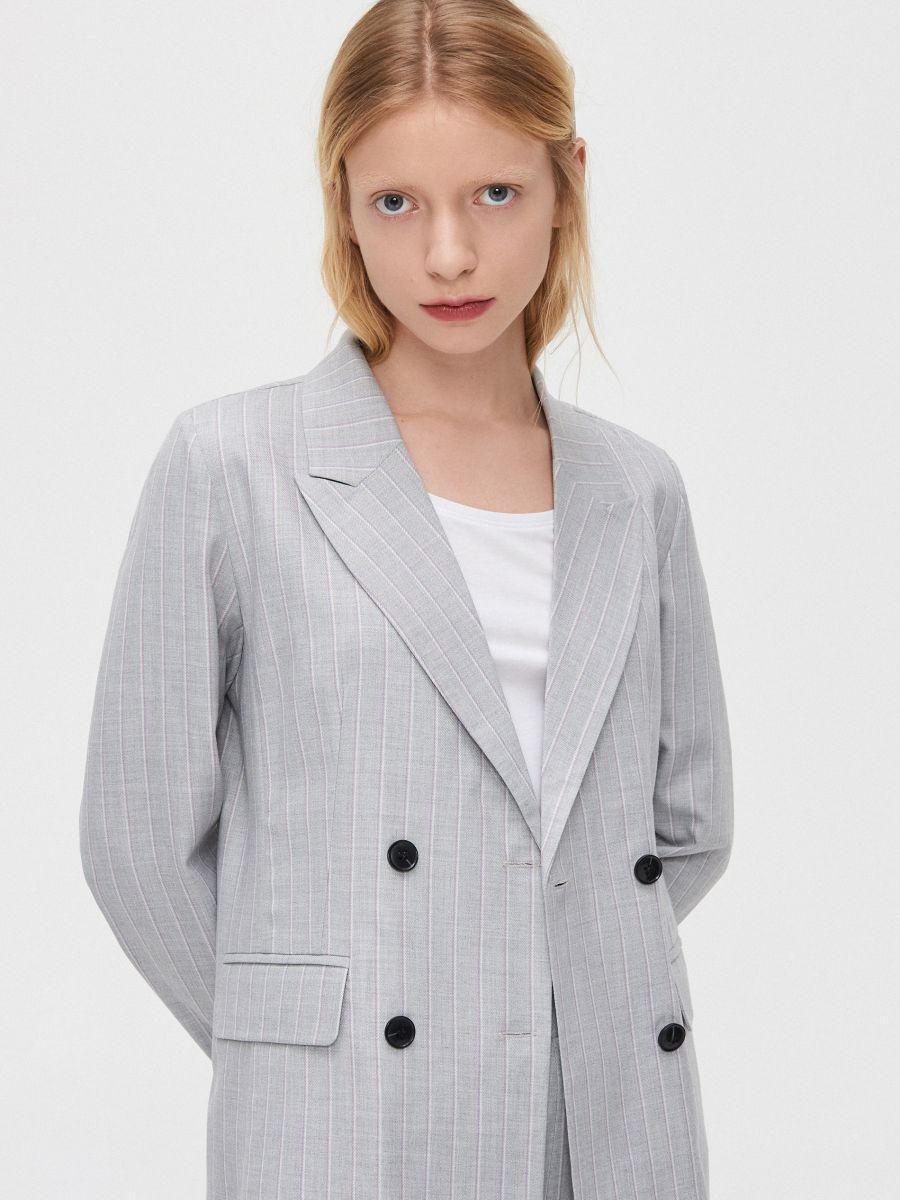 Двубортный пиджак - светло-серый - XL583-09X - Cropp - 3