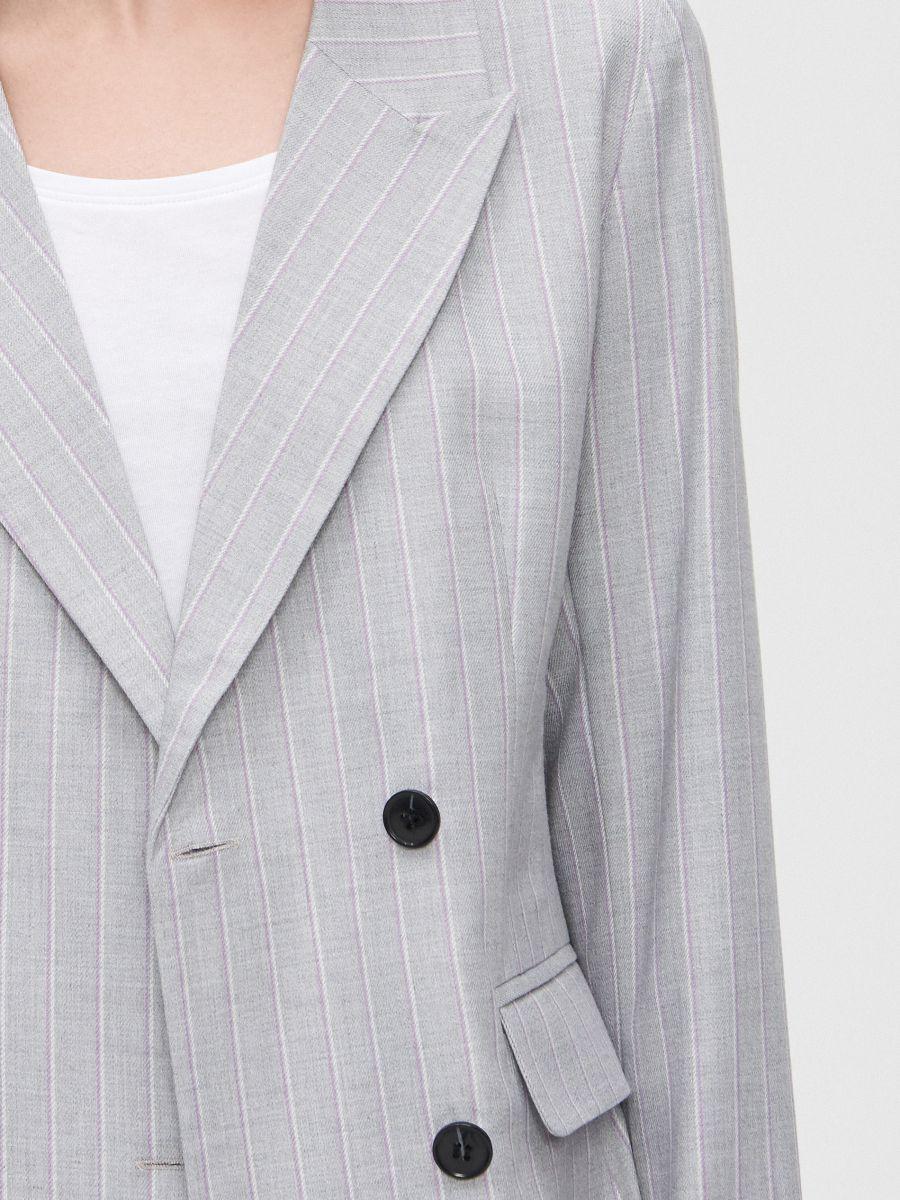 Двубортный пиджак - светло-серый - XL583-09X - Cropp - 5