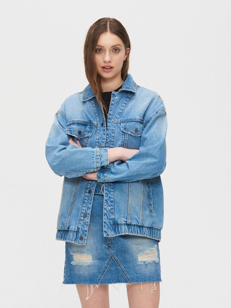 Джинсовая куртка - голубой - XL587-55J - Cropp - 1