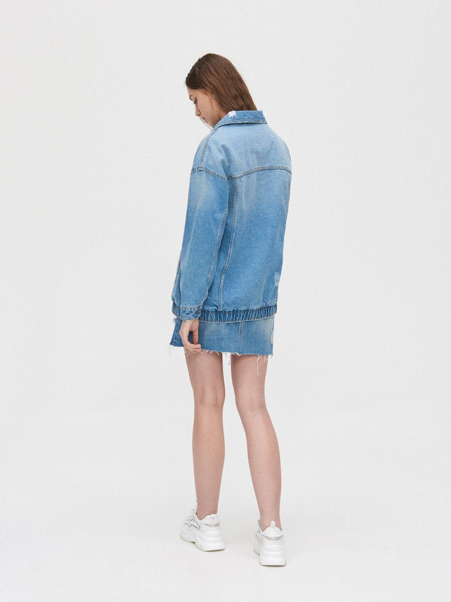 Джинсовая куртка - голубой - XL587-55J - Cropp - 5