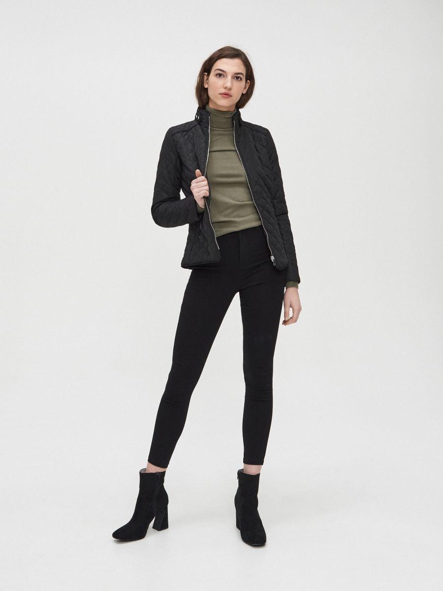 Легкая стеганая куртка - черный - XL591-99X - Cropp - 1