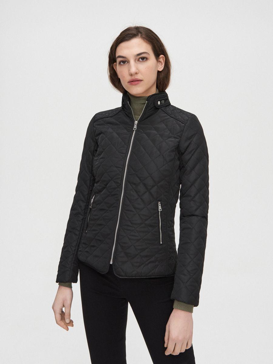 Легкая стеганая куртка - черный - XL591-99X - Cropp - 2