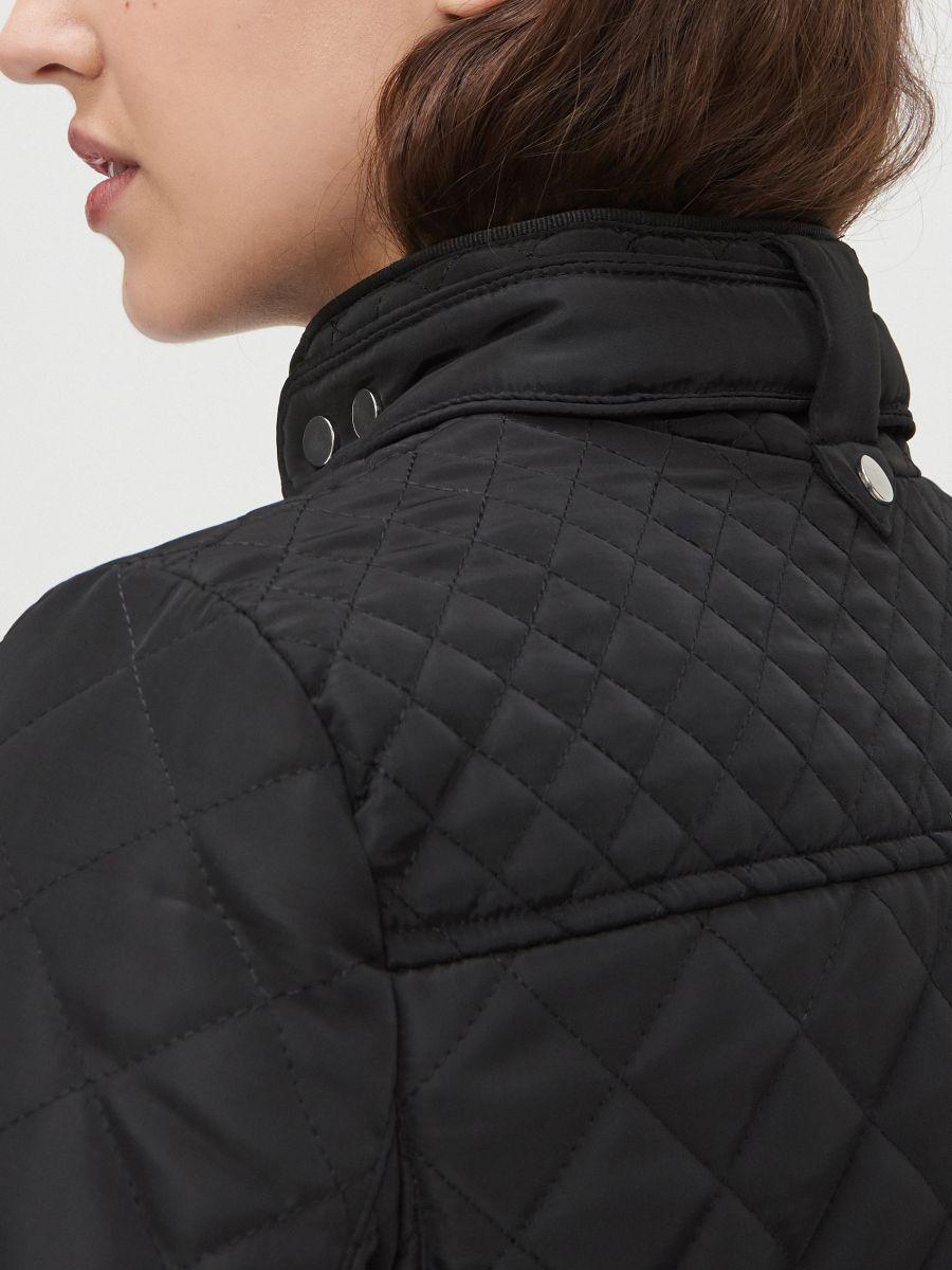 Легкая стеганая куртка - черный - XL591-99X - Cropp - 3