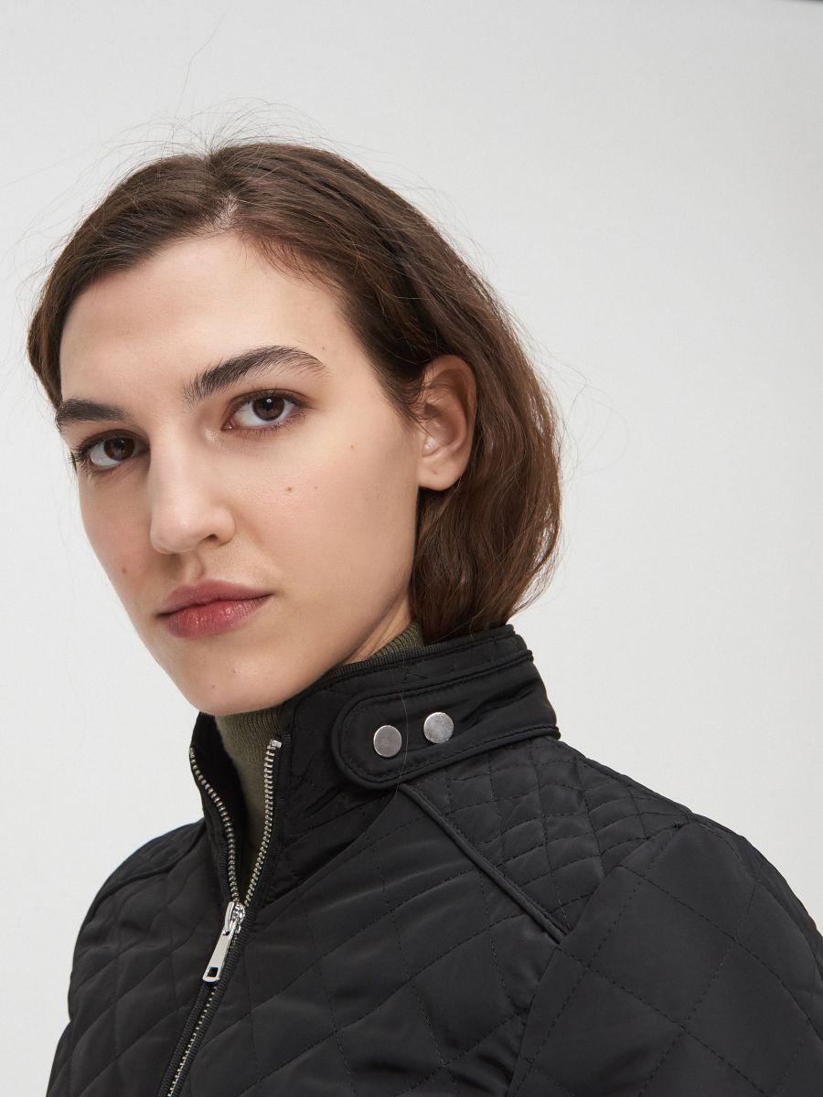 Легкая стеганая куртка - черный - XL591-99X - Cropp - 4