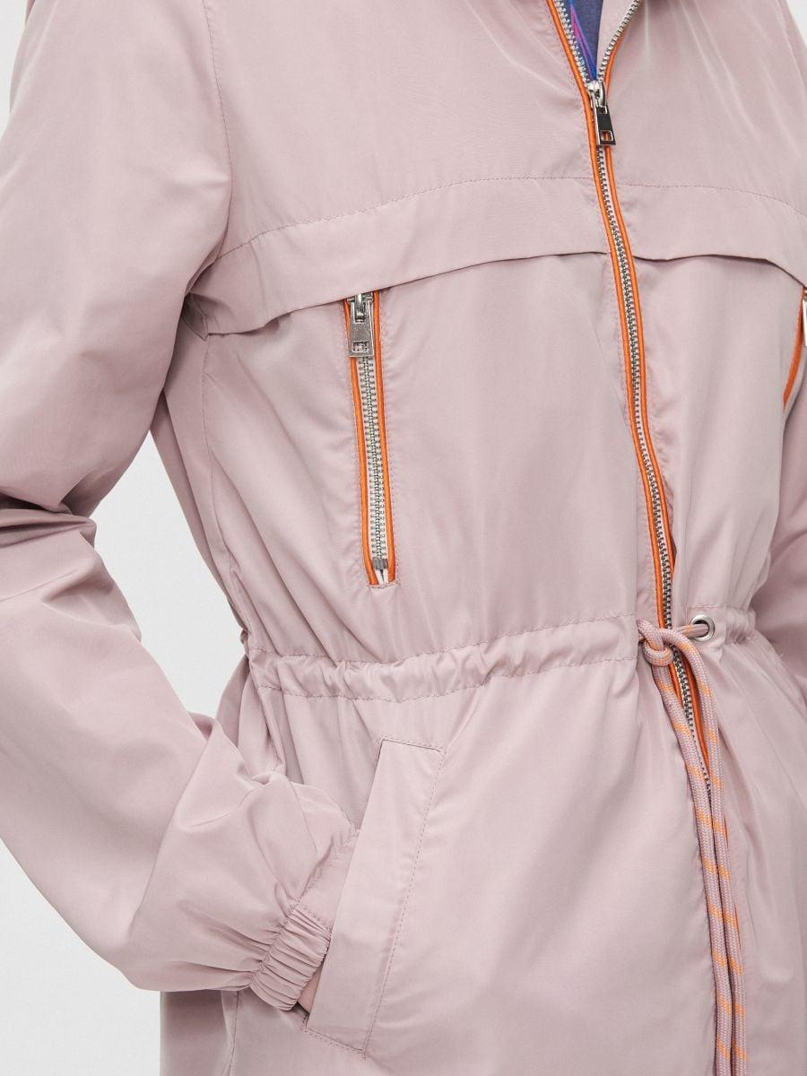 Легкая куртка-дождевик - розовый - XL598-39X - Cropp - 5