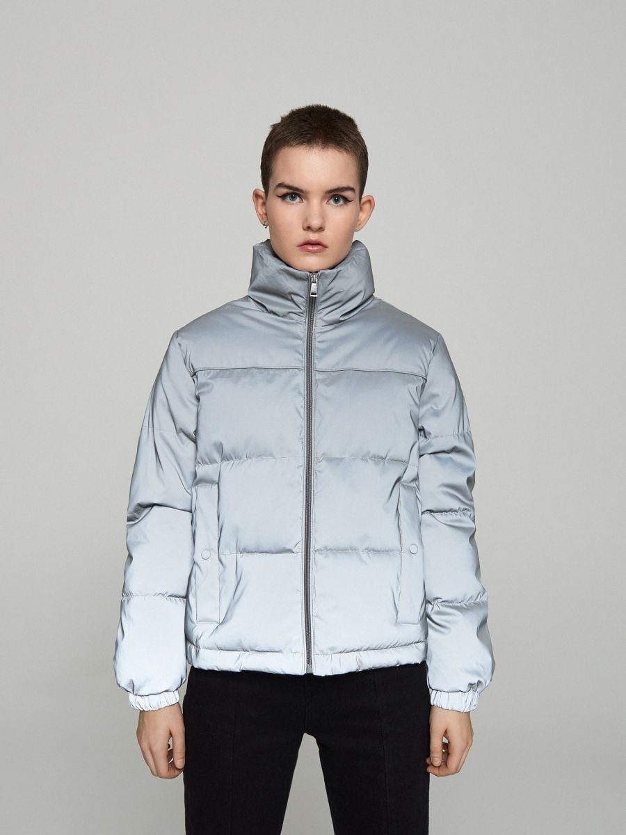 Объемная куртка - серый - XL604-90X - Cropp - 2