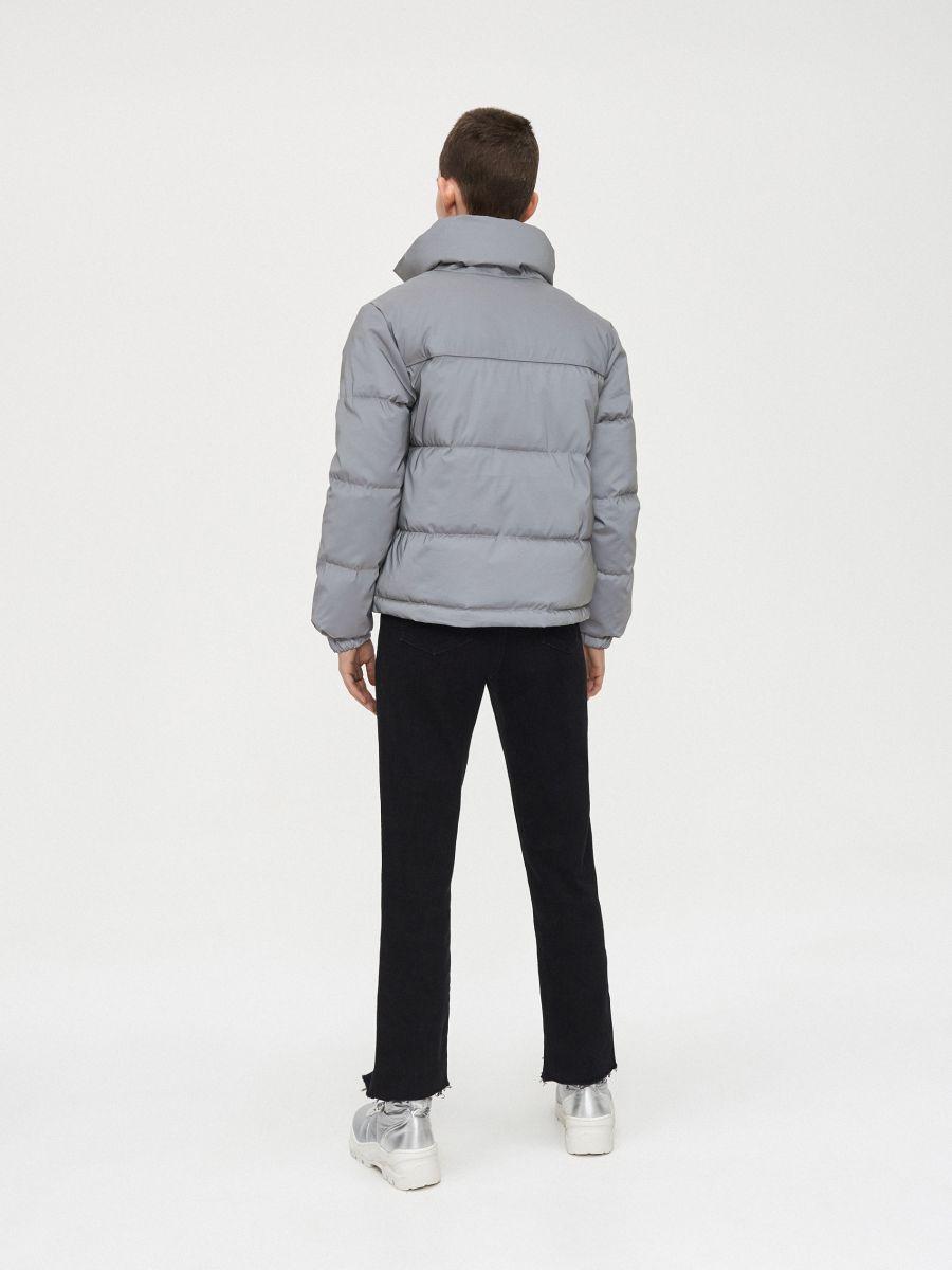 Объемная куртка - серый - XL604-90X - Cropp - 7