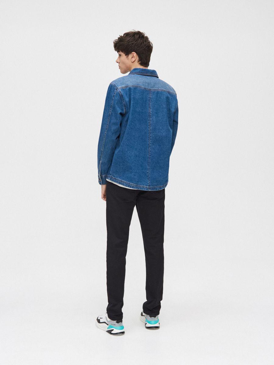 Хлопковая рубашка  - голубой - XR131-55X - Cropp - 4