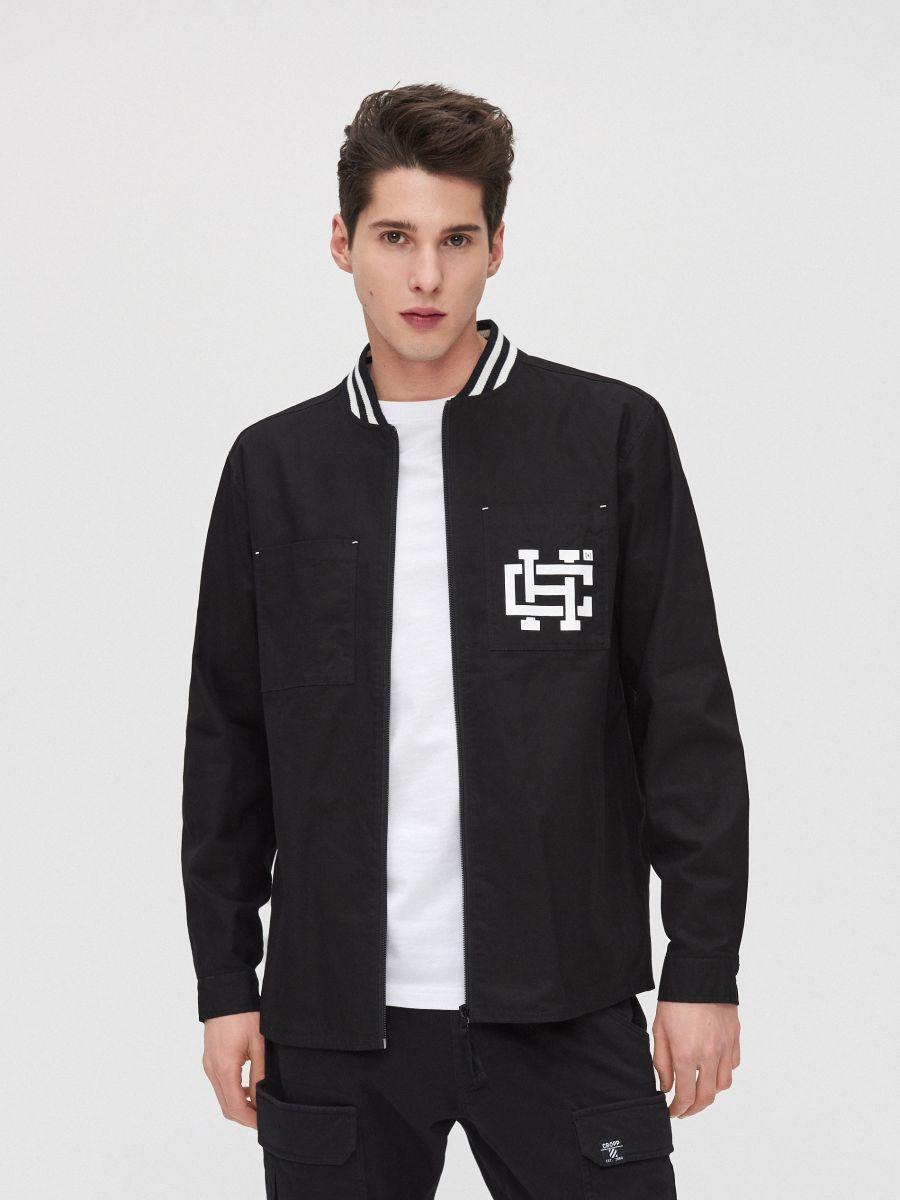 Рубашка с воротником, оформленным резинкой - черный - XR133-99X - Cropp - 1