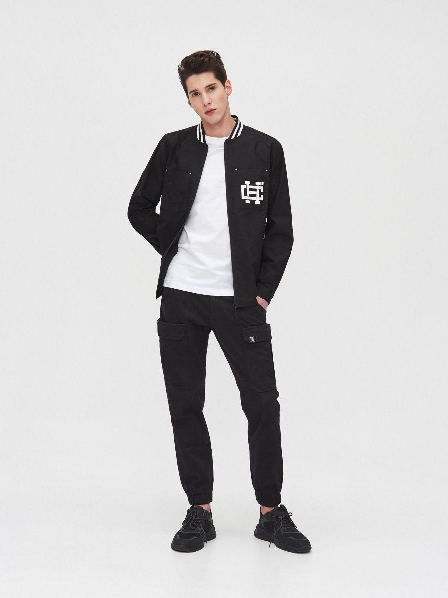 Рубашка с воротником, оформленным резинкой - черный - XR133-99X - Cropp - 2