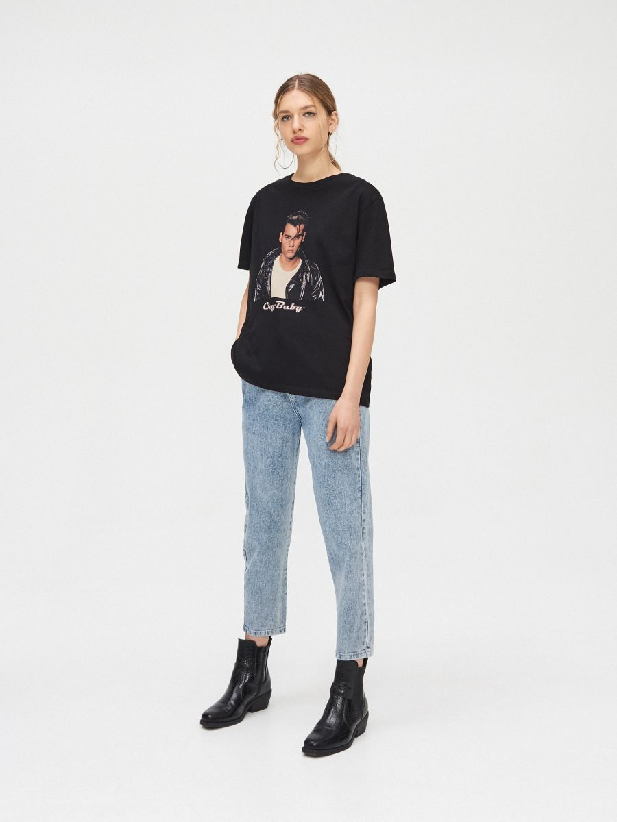 Блуза oversize - черный - YC839-99X - Cropp - 3