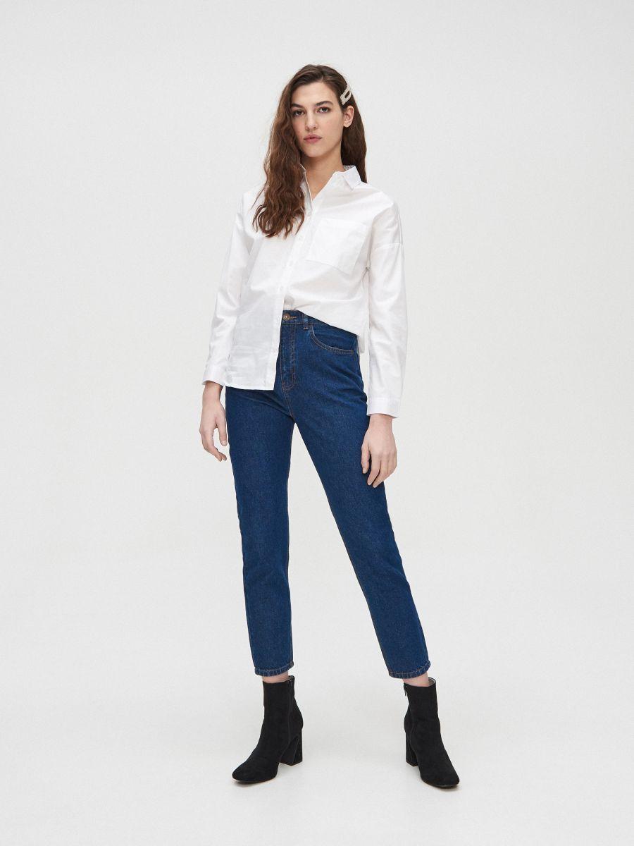Гладкая хлопковая рубашка - белый - YD489-00X - Cropp - 2