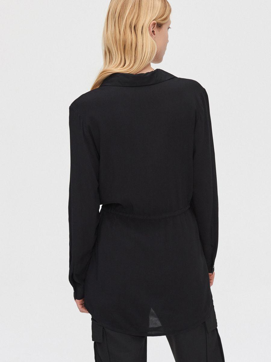 Блузка с завязками - черный - YI642-99X - Cropp - 4