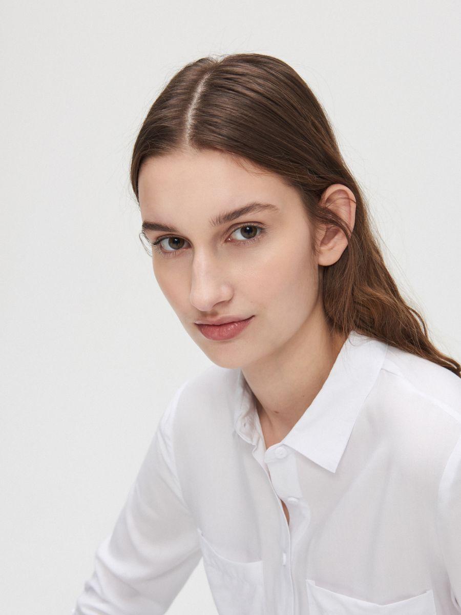 Рубашка из вискозы - белый - YI645-00X - Cropp - 2