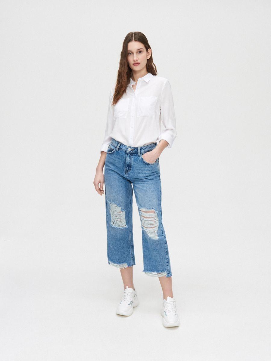 Рубашка из вискозы - белый - YI645-00X - Cropp - 3
