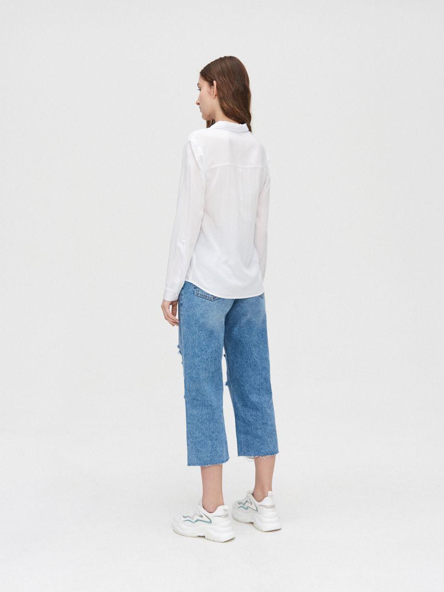 Рубашка из вискозы - белый - YI645-00X - Cropp - 4