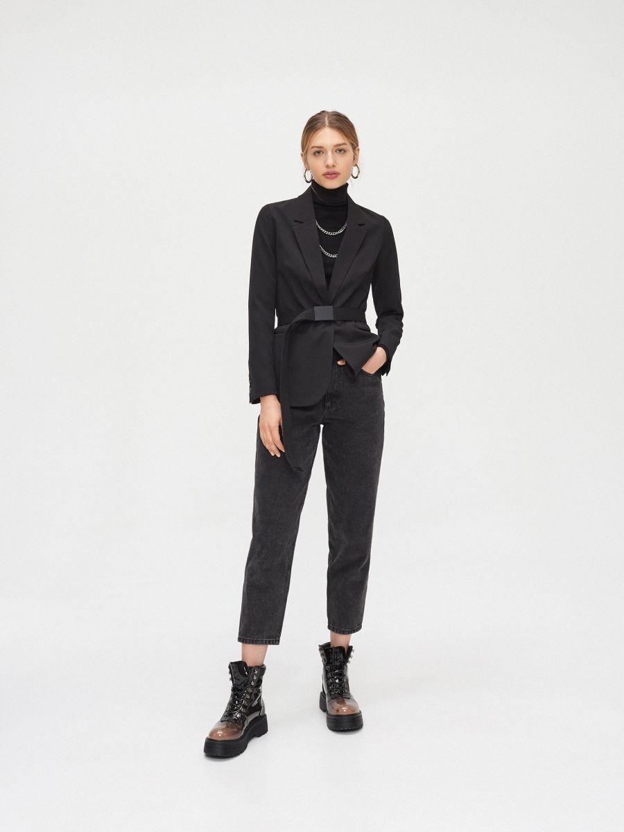 Однобортный пиджак - черный - YJ594-99X - Cropp - 1