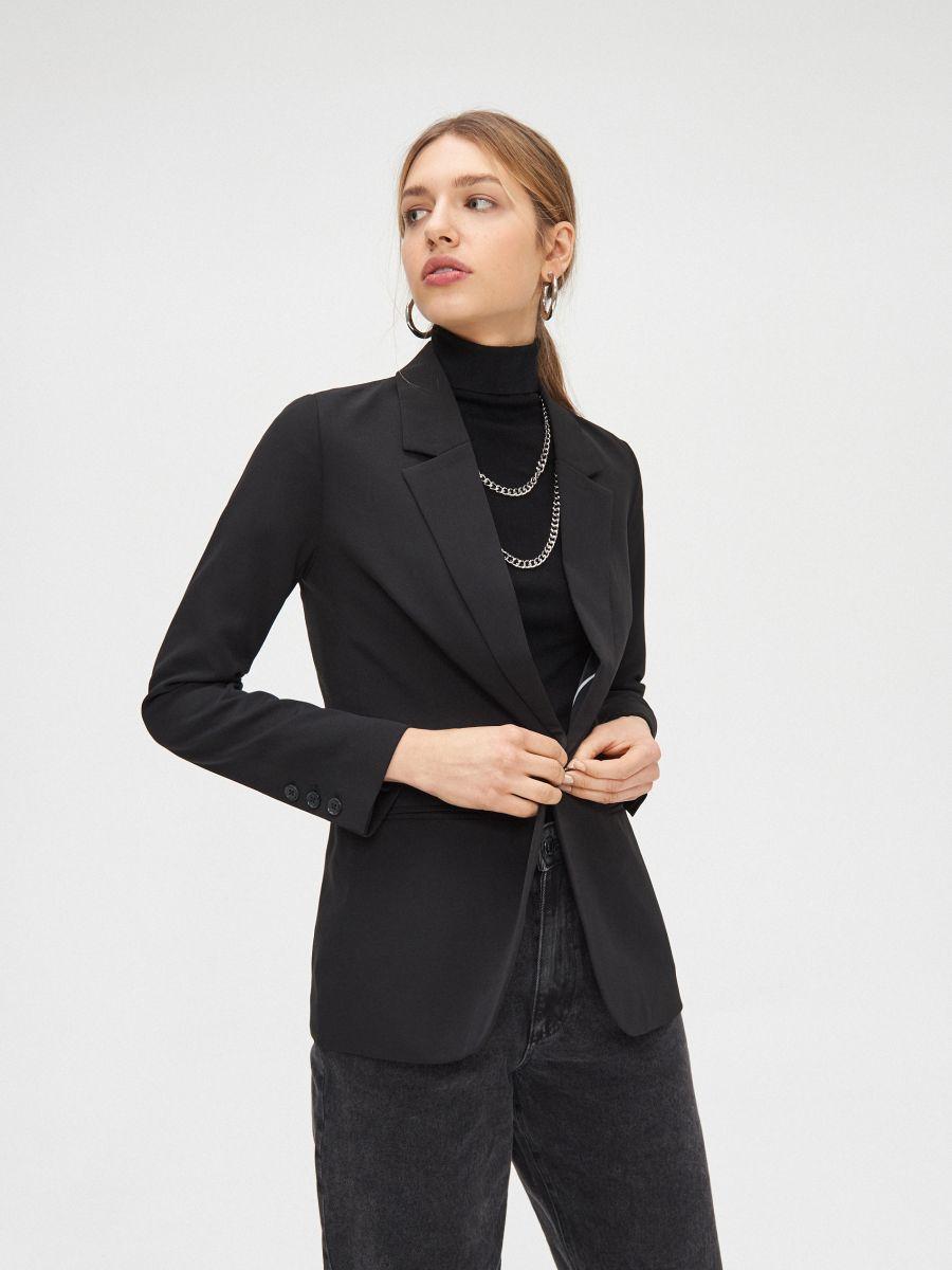 Однобортный пиджак - черный - YJ594-99X - Cropp - 3