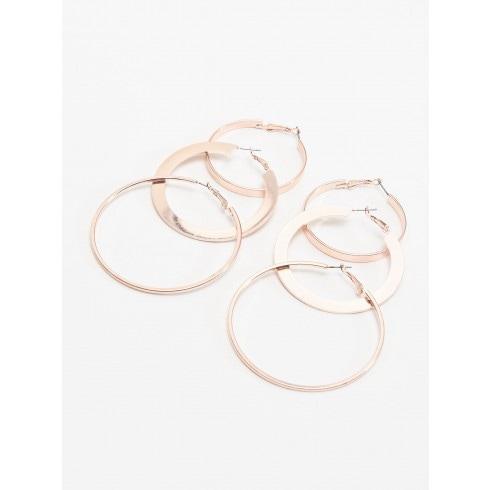 Серьги-кольца, 3 пары