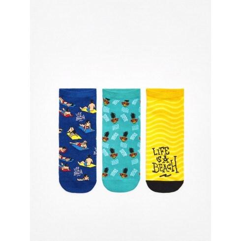 Короткие носки, 3 пары в упаковке